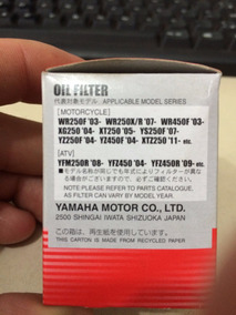 Filtro De Oleo Yz/wr/xtz Original Yamaha !