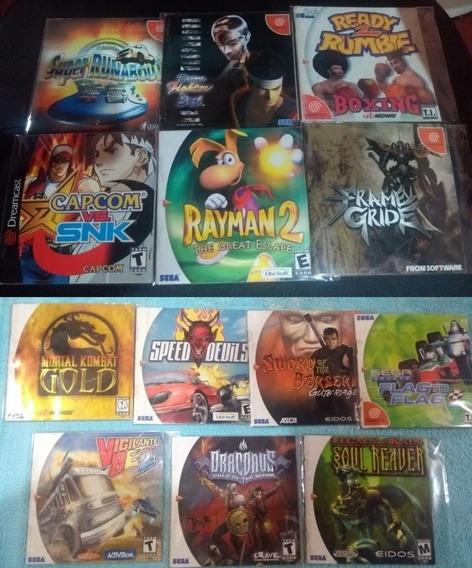 Manuais Dreamcast - Mortal Kombat Capcom Snk Rayman 2