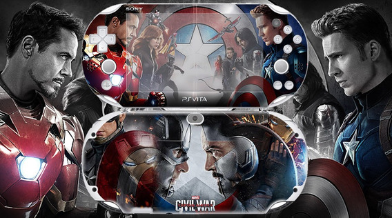 Skin Adesivo Ps Vita Civil War Fat / Slim Sublimeskins