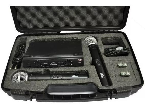 Microfone Sem Fio Jwl U-585 Duplo Uhf Profissional + Maleta