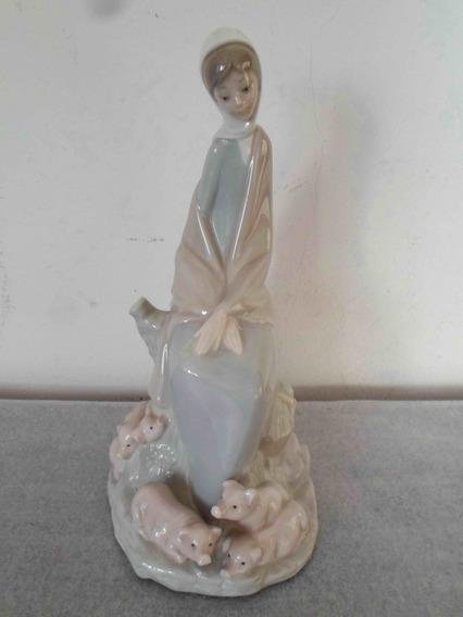 Antigua Figura Pastorcita Porcelana Española Nao By Lladro