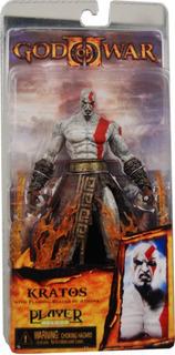 Figura Kratos With Flaming Blades Of Athena God Of War Neca
