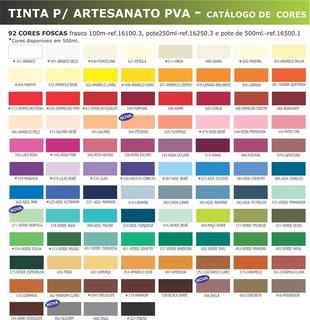 10x Tinta Pva Fosca Corfix 100ml Mdf Artesanato Vidro *escol