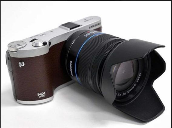Nx 300 + Lentes 18-55mm E 30mm + 3 Baterias + Led + Bolsa