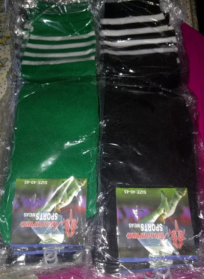Medias Football-rugby-hockey X 10 Docenas-pack Colores Surt.