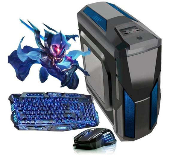Pc Gamer Barato + Kit Gamer / Intel / Hdmi/geforce + Jogos E Programas De Brinde
