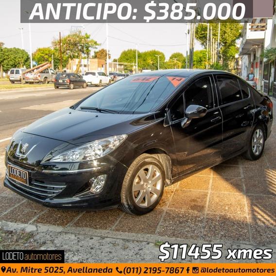 Peugeot 408 2.0 Allure Gnc 2014 Anticipo/financiacion/permut