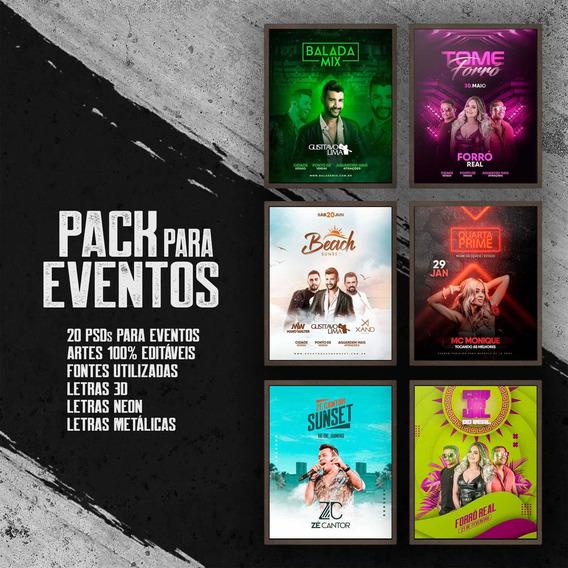 Pacote De Psd Para Eventos / Flyer / Mídia Social / Pack