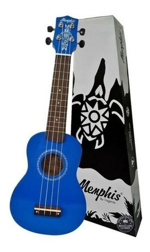 Ukulele Soprano Memphis Honu Azul By Tagima Colors Blue