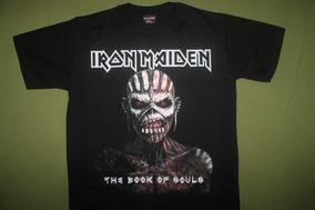 Gusanobass Playera Rock Metal Iron Maiden Book Talla 2 X L