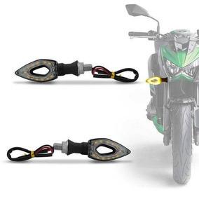04 Peças Pisca Seta Esportiva Moto Led Vazado