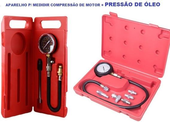 Aparelho De Medir Pressão De Óleo + Compressão De Motor Prof