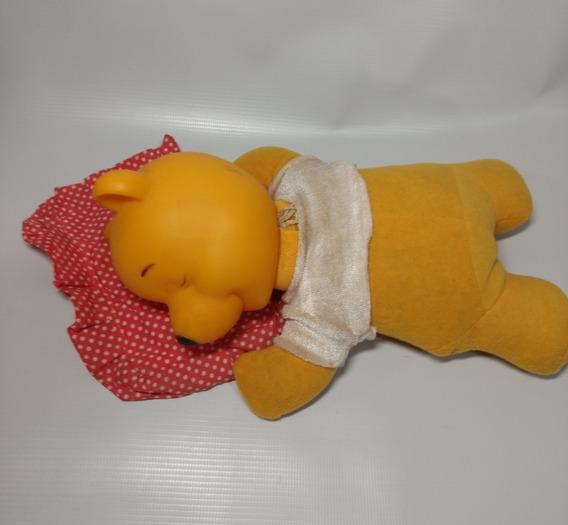 Ursinho Pooh Puff Dormindo Travesseirinho Pelúcia 20 Cm