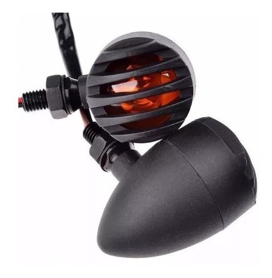 Par Setas Moto Cafe Racer Custom Bobber Metal Chopper