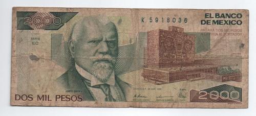 Imagen 1 de 2 de Mexico 2000 Peso 1989