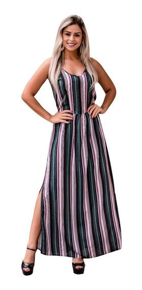 Vestido Feminino Longo Midi Festa Social Detalhe Fenda Moda Evangelica Executiva