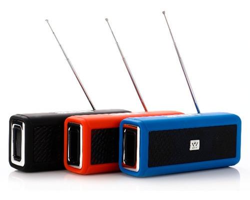 Parlante Bluetooth Inalambrico Wsa Serie Usb Micro Sd Radio Fm Mp3 Sonido Super Bass Celular Tablet Pc Notebook Bosina