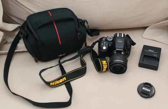 Camera Nikon D5300 Com Lente 18-55 Mm
