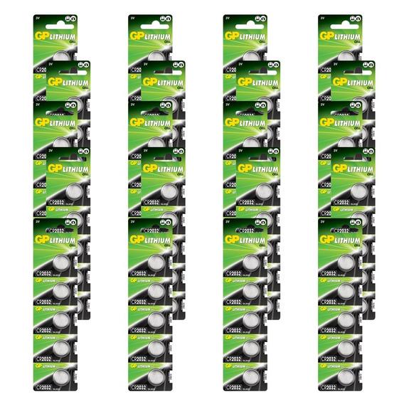 100 Baterias Gp Batteries Lithium Moeda 3v 160mah Cr2025-c5