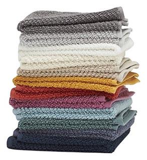 Washcloths Por Las Modas De Vida 12 Unidades 100% Algodon Ex