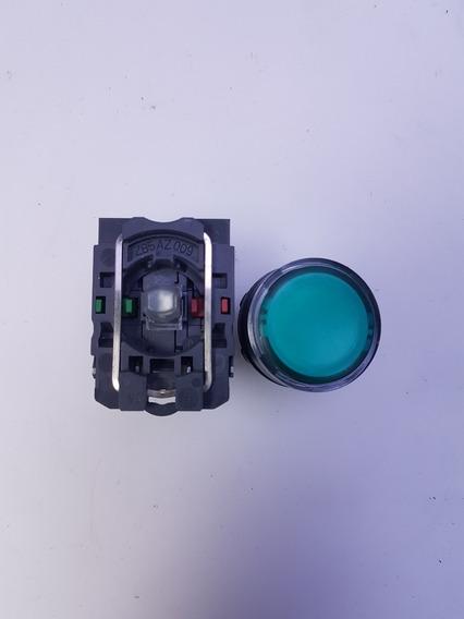 Botão Pulsador Luminoso Led Vd 22mm Schneider Xb5aw33b5