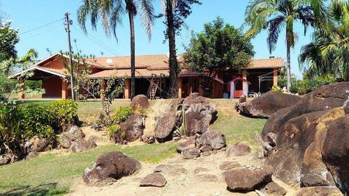 Chácara Com 5 Dormitórios À Venda, 48400 M²  - Colinas Do Mosteiro De Itaici - Indaiatuba/sp - Ch0141