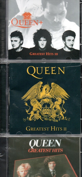 Kit 3 Cds Queen - Greatest Hits Vol.1 , 2 E 3