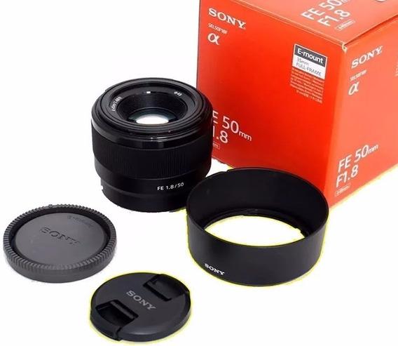 Lente Sony Fe 50mm F/1.8 Sel50f18f Para-sol Garantia Sony Nf