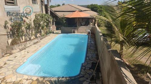 Chácara Com 3 Dormitórios À Venda, 1718 M² Por R$ 420.000,00 - Tupi - Piracicaba/sp - Ch0140