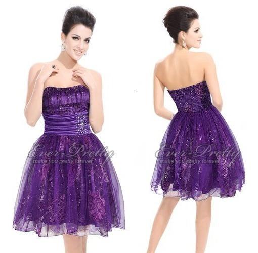 Vestido Corto Strapless De Organza 2xl