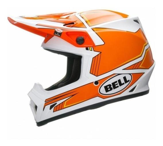 Capacete Bell Mx-9 Blockade Orange