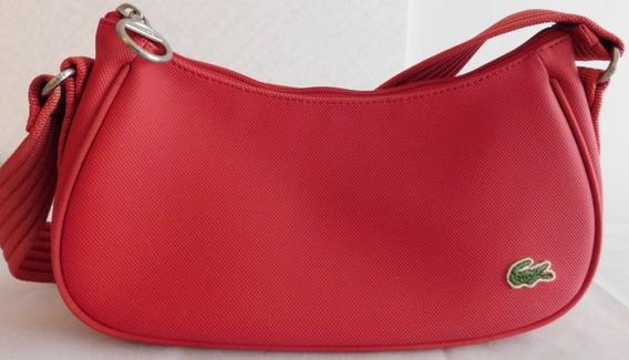 Bolsa Lacoste Femme Emborrachada Vermelha.