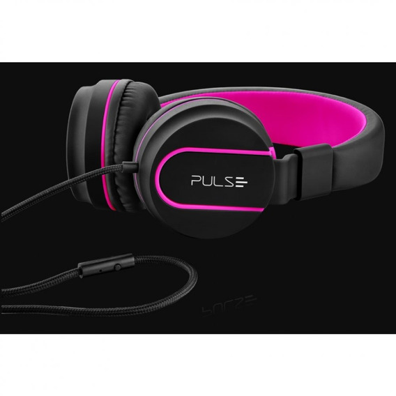 Over Ear Wired Stereo Áudio Pulse Rosa