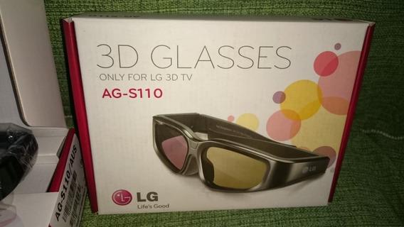 03 Óculos 3d Ativos Ag-s110 E S100 Lg - Bateria Recarregável