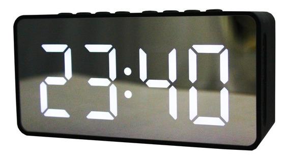 Caixa De Som Bluetooth Relógio Despertador Led Bt/aux/tf