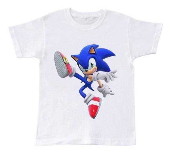 Playera Manga Corta Sonic Película Niño 2 A 16 Años Moda