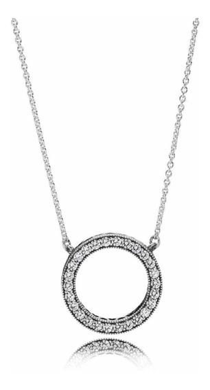 Collar En Plata Original Pandora Corazones Clara