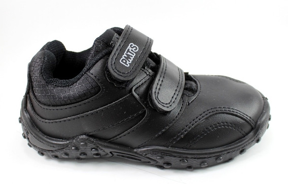 Zapatilla Depostiva Zapato Urbano Escolar Plumitas Abrojos Negro