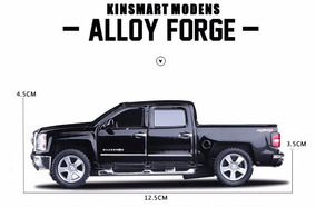 Brinquedo Miniatura Pick Up Chevrolet Silverado Escala 1:46