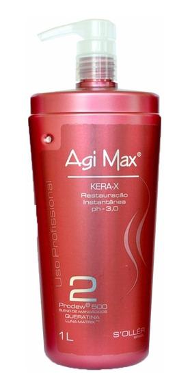 Escova Progressiva Agi Max Red Kera-x 1000ml Passo2