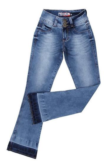 Calça Flare Jeans Claro Feminina Rodeo Western 23354