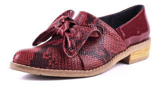 Zapato Cuero 5033 Rojo
