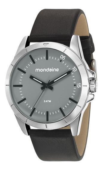 Relógio Mondaine Masculino Analógico Couro 76701g0mvnh1