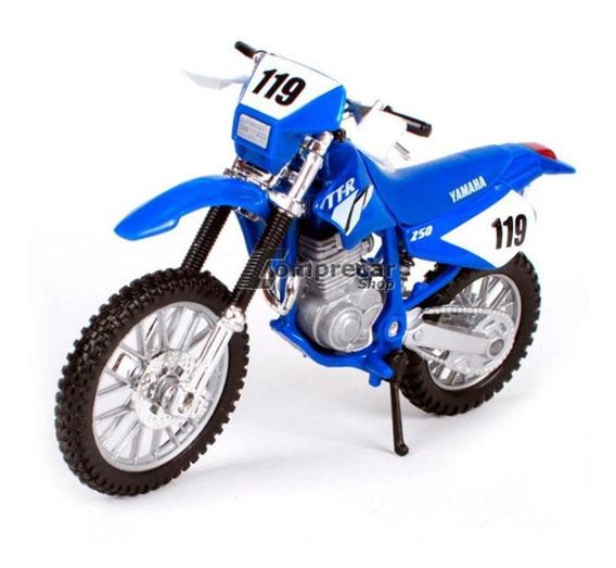 Miniatura Yamaha Tt-r 250 Azul Maisto 1/18