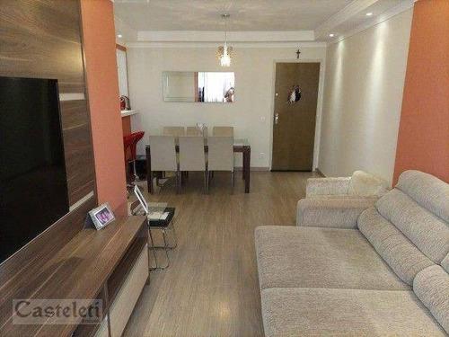 Imagem 1 de 15 de Apartamento Com 3 Dormitórios À Venda, 83 M² Por R$ 460.000 - Jardim Proença - Campinas/sp - Ap7798