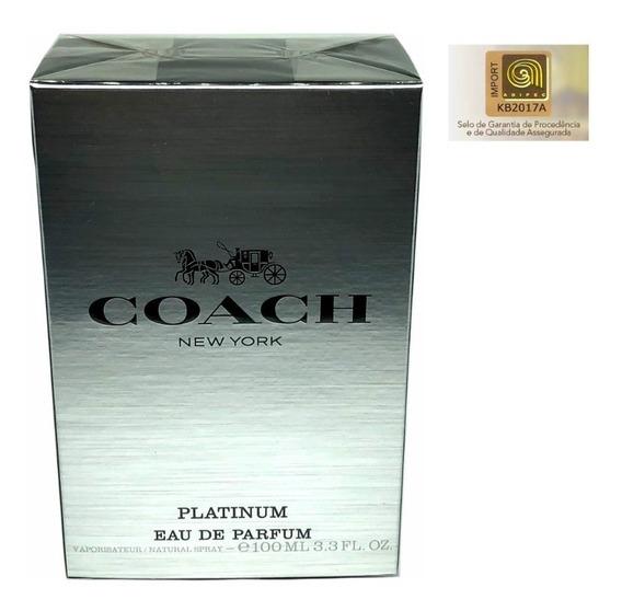Perfume Coach Platinum Edp 100ml - Selo Adipec Original