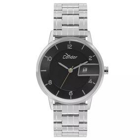 Relógio Condor Masculino Casual Prata Slim Cogl10bq/3p