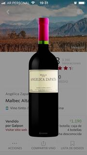 Vino Angelica Zapata Malbec Alta 2012 X Unidad