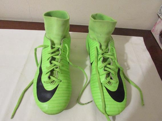 Chuteira Mercurial Verde Da Nike Original Usada R$ 159,00