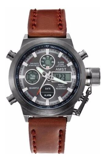 Relógio Masculino Amst 3003 Militar Esportivo Promoção